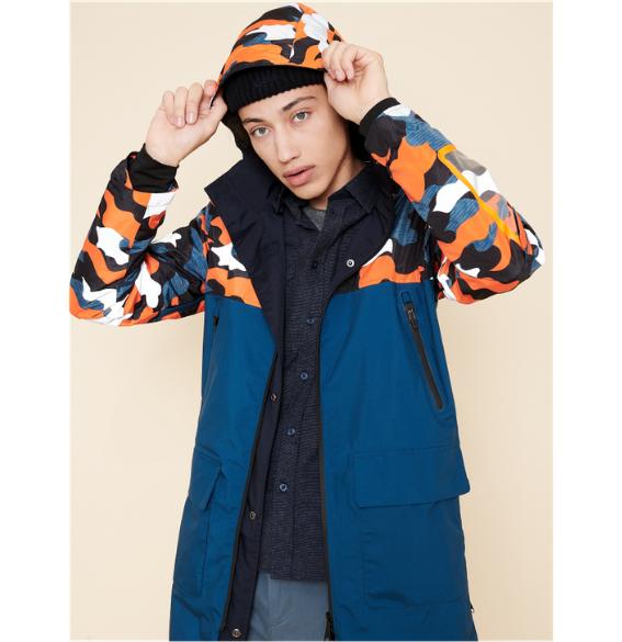 Waterproof reversible jacket Urban Circus x Aigle with hood
